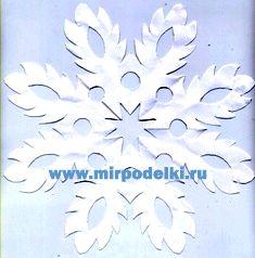 Новогодние поделки своими руками снежинки из бумаги